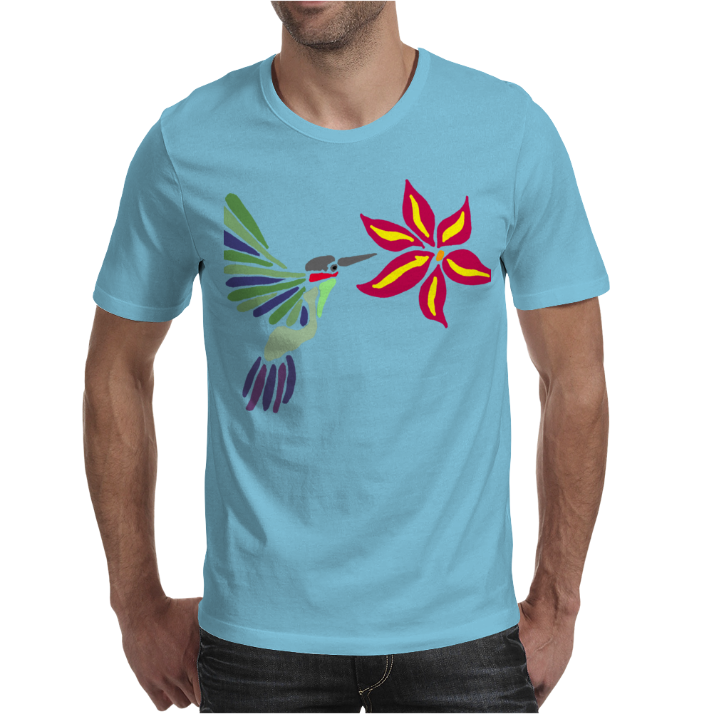 Awesome Ruby-Throated Hummingbird Abstract Art Mens T-Shirt