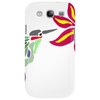 Awesome Ruby-Throated Hummingbird Abstract Art Phone Case
