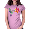 Awesome Ruby-Throated Hummingbird Abstract Art Womens Fitted T-Shirt