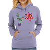 Awesome Ruby-Throated Hummingbird Abstract Art Womens Hoodie