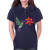 Awesome Ruby-Throated Hummingbird Abstract Art Womens Polo