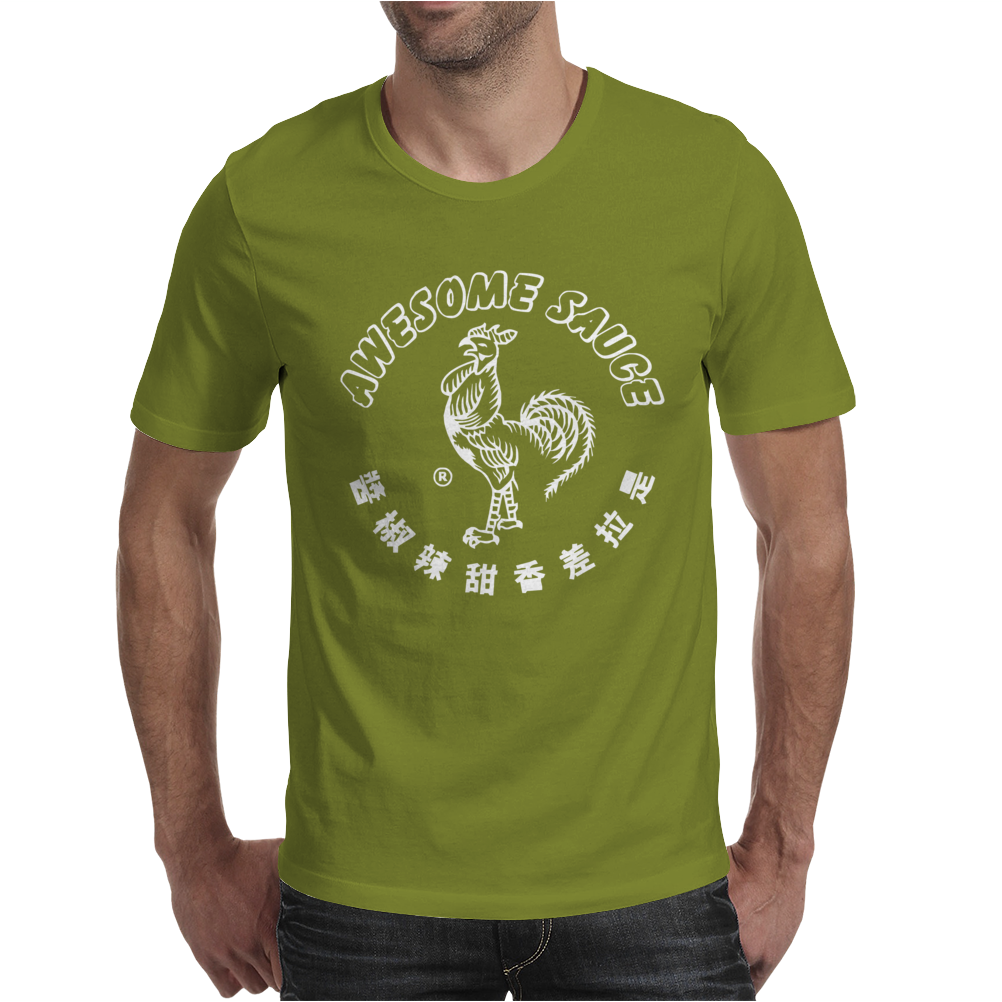 Awesome Sauce Asian Humor Rooster Funny Cool Mens T-Shirt