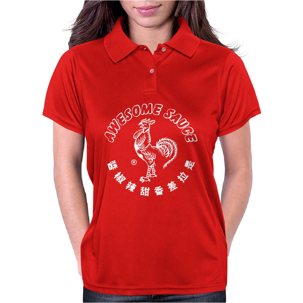 Awesome Sauce Asian Humor Rooster Funny Cool Womens Polo