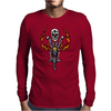 Awesome Skeleton Riding Motorcycle Artwork Mens Long Sleeve T-Shirt
