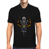 Awesome Skeleton Riding Motorcycle Artwork Mens Polo