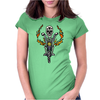 Awesome Skeleton Riding Motorcycle Artwork Womens Fitted T-Shirt