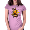 Awesome Snake and Sun Art Original Womens Fitted T-Shirt