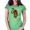 Awesome Stalking Tiger Art Womens Fitted T-Shirt