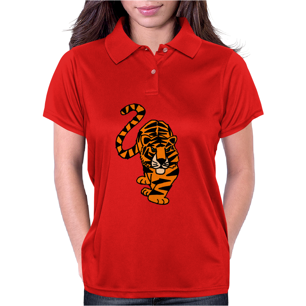 Awesome Stalking Tiger Art Womens Polo