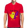 Awesome Surfer Chick with Surfboard Art Mens Polo