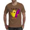 Awesome Surfer Chick with Surfboard Art Mens T-Shirt