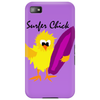 Awesome Surfer Chick with Surfboard Art Phone Case