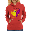 Awesome Surfer Chick with Surfboard Art Womens Hoodie