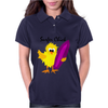 Awesome Surfer Chick with Surfboard Art Womens Polo
