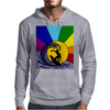 Awesome Surfer in the Sun and Waves Abstract Mens Hoodie