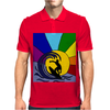 Awesome Surfer in the Sun and Waves Abstract Mens Polo