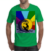 Awesome Surfer in the Sun and Waves Abstract Mens T-Shirt