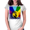 Awesome Surfer in the Sun and Waves Abstract Womens Fitted T-Shirt