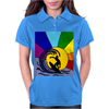 Awesome Surfer in the Sun and Waves Abstract Womens Polo