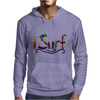 Awesome Surfing Art Letters Mens Hoodie