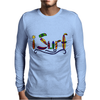 Awesome Surfing Art Letters Mens Long Sleeve T-Shirt