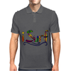Awesome Surfing Art Letters Mens Polo