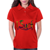 Awesome Surfing Art Letters Womens Polo