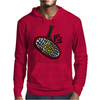 Awesome Tennis ball and Racket Art Abstract Mens Hoodie