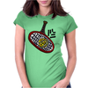 Awesome Tennis ball and Racket Art Abstract Womens Fitted T-Shirt