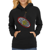 Awesome Tennis ball and Racket Art Abstract Womens Hoodie