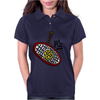 Awesome Tennis ball and Racket Art Abstract Womens Polo