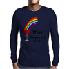 Awesome Wine is Heaven in a Glass Art Mens Long Sleeve T-Shirt