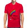 Awesome Wine is Heaven in a Glass Art Mens Polo
