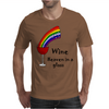 Awesome Wine is Heaven in a Glass Art Mens T-Shirt
