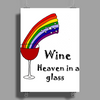 Awesome Wine is Heaven in a Glass Art Poster Print (Portrait)