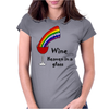 Awesome Wine is Heaven in a Glass Art Womens Fitted T-Shirt