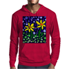 Awesome Yellow Daisy Flowers Abstract Art Original Mens Hoodie