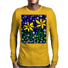 Awesome Yellow Daisy Flowers Abstract Art Original Mens Long Sleeve T-Shirt