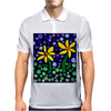 Awesome Yellow Daisy Flowers Abstract Art Original Mens Polo