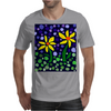 Awesome Yellow Daisy Flowers Abstract Art Original Mens T-Shirt