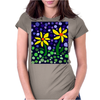 Awesome Yellow Daisy Flowers Abstract Art Original Womens Fitted T-Shirt