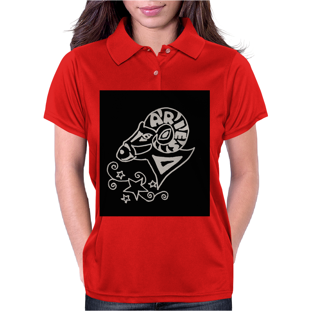Awesome Zodiac Aries Ram Art Original Womens Polo