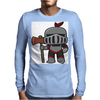 Axe Weilding Knight Mens Long Sleeve T-Shirt