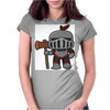Axe Weilding Knight Womens Fitted T-Shirt