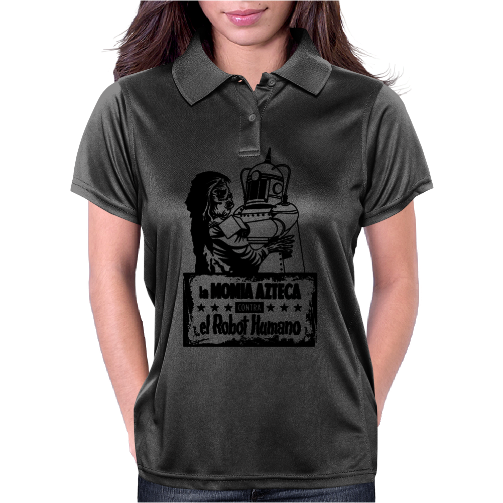Aztec Mummy vs Robot Womens Polo
