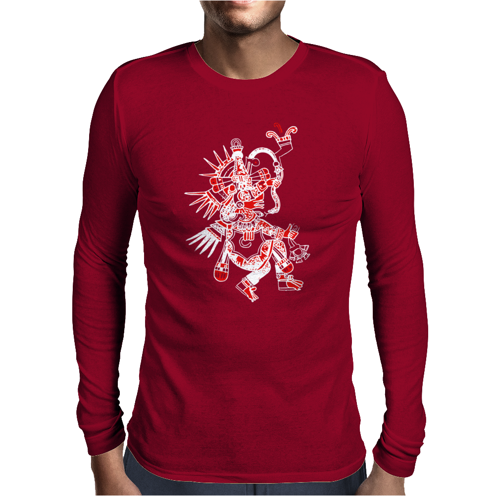 Aztec Quetzalcoatl Mens Long Sleeve T-Shirt