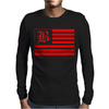 B Red Mens Long Sleeve T-Shirt