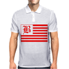 B Red Mens Polo