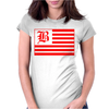 B Red Womens Fitted T-Shirt