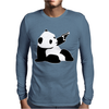 Baby Banksy Inspired Panda Mens Long Sleeve T-Shirt